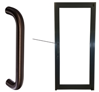 Storefront ADA Dark Bronze Straight Pull Handle