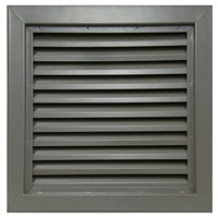 "Valor Commercial Door Fixed Blade Louver, 18 Gauge, 12"" x 12"" Cutout Size"