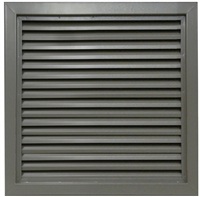 "Valor Commercial Door Fixed Blade Louver, 18 Gauge, 18"" x 18"" Cutout Size"