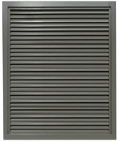 "Valor Commercial Door Fixed Blade Louver, 18 Gauge, 18"" x 24"" Cutout Size"