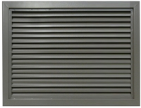 "Valor Commercial Door Fixed Blade Louver, 18 Gauge, 24"" x 18"" Cutout Size"