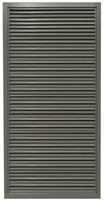 "Valor Commercial Door Fixed Blade Louver, 18 Gauge, 24"" x 64"" Cutout Size"