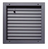 "Valor Commercial Door Fire Rated Fusible Link Louver, UL Labeled, 16 Gauge, 12"" x 12"" Cutout Size"
