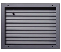 "Valor Commercial Door Fire Rated Fusible Link Louver, UL Labeled, 16 Gauge, 18"" x 12"" Cutout Size"