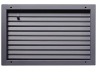 "Valor Commercial Door Fire Rated Fusible Link Louver, UL Labeled, 16 Gauge, 24"" x 12"" Cutout Size"