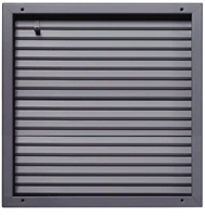 "Valor Commercial Door Fire Rated Fusible Link Door Louver, UL Labeled, 16 Gauge, 24"" x 24"" Cutout Size"