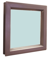 "Valor Commercial Door Vision Lite Kit With Slimline Vision Frame, 1/4"" Tempered Glass, and Glazing Tape; 12"" x 12"" Cutout Size, 100 Exposed Sq In, 11"" x 11"" Glass"