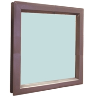 "Valor Commercial Door Vision Lite Kit With Slimline Vision Frame, 1/4"" Tempered Glass, and Glazing Tape; 24"" x 24"" Cutout Size, 484 Exposed Sq In, 23"" x 23"" Glass"
