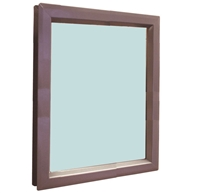 "Valor Commercial Door Vision Lite Kit With Slimline Vision Frame, 1/4"" Tempered Glass, and Glazing Tape; 24"" x 30"" Cutout Size, 616 Exposed Sq In, 23"" x 29"" Glass"