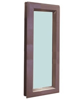 "Valor Commercial Door Vision Lite Kit With Slimline Vision Frame, 1/4"" Tempered Glass, and Glazing Tape; 7"" x 22"" Cutout Size, 100 Exposed Sq In, 6"" x 21"" Glass"