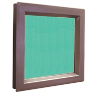 "DC USA Approved Commercial Door Fire Rated Vision Lite Kit With VSL Slimline Vision Frame and 1/4"" Laminated Wire Glass; 12"" x 12"" Cutout Size, 100 Exposed Sq In, 11"" x 11"" Glass"