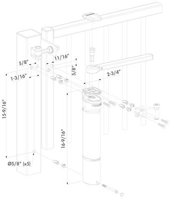 Locinox Verticlose Std Adjustable Gate Closer For 180 Degree Hinge