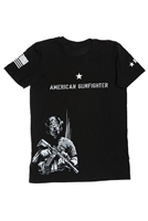 BRAVO COMPANY AMERICAN GUN-FIGHTER T-SHIRT, SHORT SLEEVE, BLACK