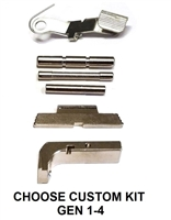 GoTo GEAR Chrome Extended Control Kit With Tango Down Slide Stop/Release And Aluminum Magazine Release For GLOCK GEN 1 - 4 (Price Varies Per Kit)