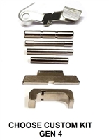 GoTo GEAR Chrome Extended Control Kit With Tango Down Slide Stop/Release And Aluminum Magazine Release For GLOCK GEN 4 (Price Varies Per Kit)