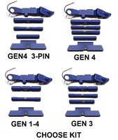 GoTo GEAR NRA Blue Extended Control Kits For Glock GEN 1-4 (Price Varies Per Kit)