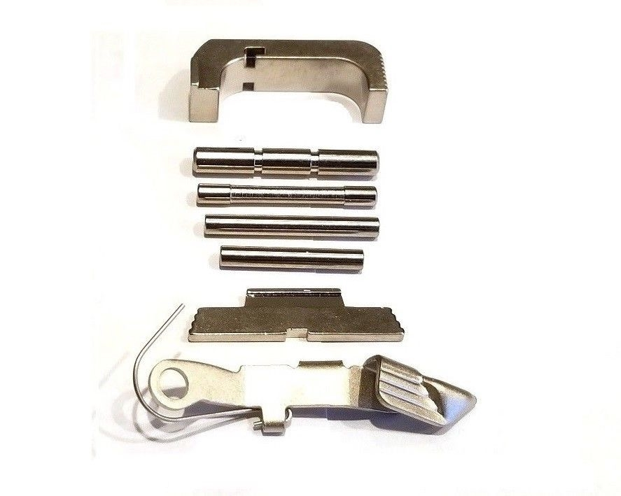 GoTo GEAR Chrome Extended Control Kit And Mag Release For GLOCK GEN 4