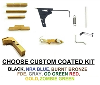 Lower Parts Kit With Extended Controls For Glock 17 Gen 1 - 3 With Out Trigger