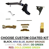 Lower Parts Kit With Extended Controls For Glock 43 And Polymer SS 80 With Trigger
