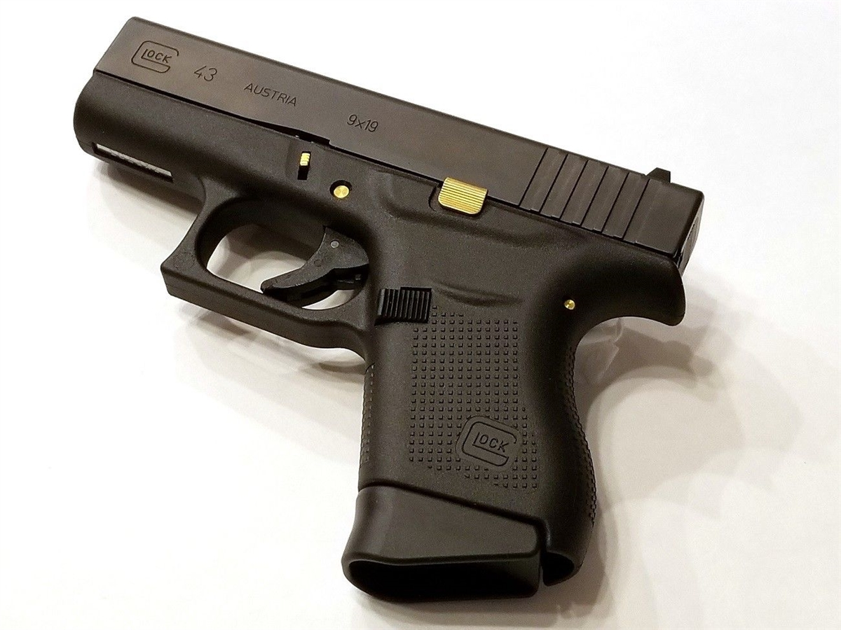 TANGO DOWN VICKERS Tactical Slide Release, TiN Coated For Glock G42/43