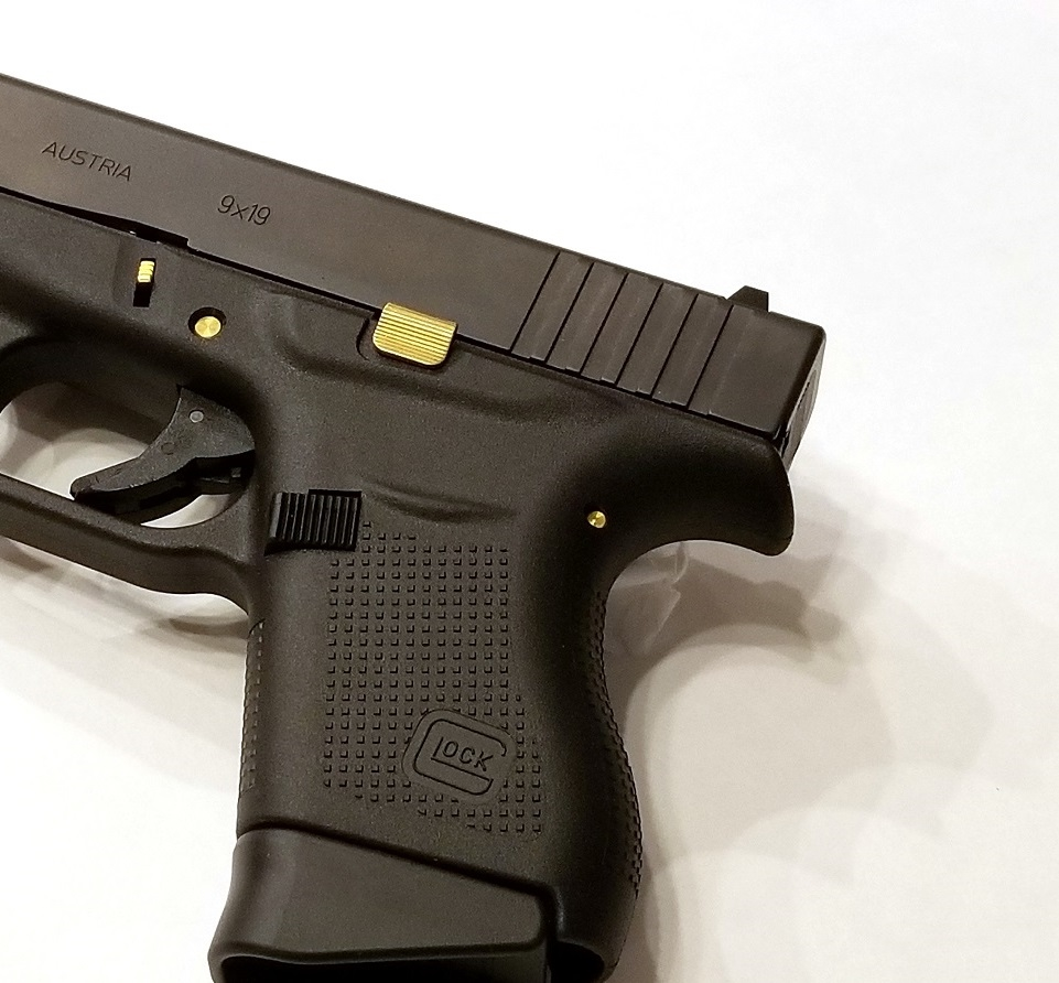 TANGO DOWN VICKERS Tactical Slide Release, TiN Coated For Glock Gen 1-4