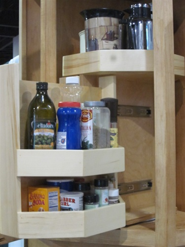 DIY Price $212.93 & Upper corner cabinet rotating pullout