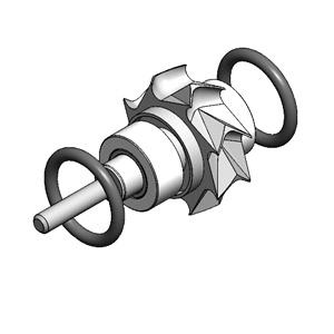 Sirona T2 Control Push Button Turbine Cartridge / Angular Contact Bearings  / CERAMIC