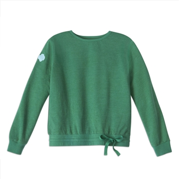 Forest Green French Terry Drawstring Sweatshirt