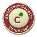 Cadette Volunteer Pin