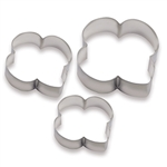 Trefoil Shaped Cookie Cutters - Set of 3
