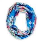Watercolor Blues Infinity Scarf