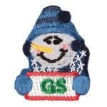 Snowman Embroidered Pin