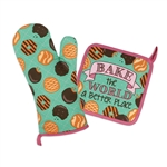 Cookie Pot Holder And Oven Mitt Set