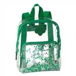 Clear Glitter Mini Backpack