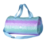 Striped Duffel Bag - Peace, Love, Girl Scouts