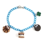 Cookie and S'mores Blue Charm Bracelet