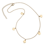 Goldtone Mini Trefoils Necklace