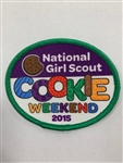 2015 National Girl Scout Cookie Weekend Fun Patch