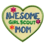 Awesome Girl Scout Mom Sew-On Fun Patch (Heart)
