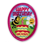 Happy Birthday Cake with Bee Sew-on Fun Patch