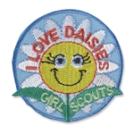 I Love Daisies Sew-On Fun Patch