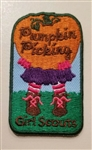 Pumpkin Picking Girl Fun Patch