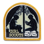 Camping Silhouette Large Sew-on Patch