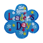 Leader's Day Sew-On Fun Patch (Blue Daisy)