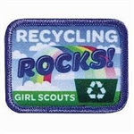Recycling Rocks Sew-On Fun Patch