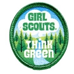 Think Green Girl Scout Fun Patch