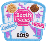 Cookie Booth Sales 2019 Iron-On Fun Patch