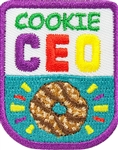 Cookies CEO Iron-on Fun Patch