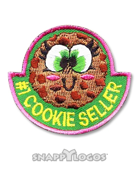 #1 Cookie Seller Sew-On Fun Patch