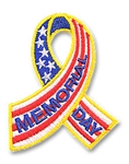 Memorial Day (ribbon) Sew-On Fun Patch
